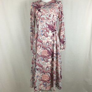Asos size 8 long sleeve floral print dress